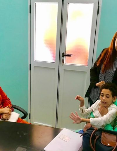 Mme Ajabli présidente et la famille de Imane