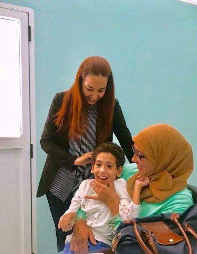 Madame Ajabli_pour l parrainage de la jeune fille Imane de Nador