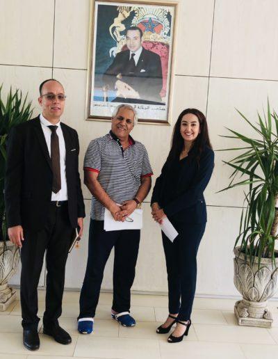 Madame Ajabli à la Fondation Mohamed V au Centre national des handicapé mentaux de Salé Maroc