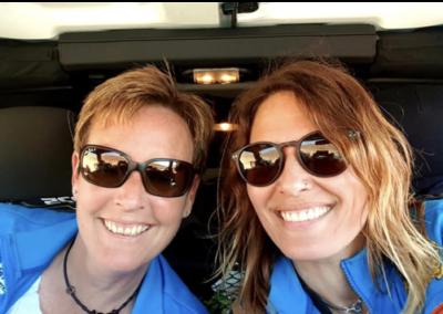 Le Team Suisse Tania Martinez et Régine Zbinden – Rallye des Gazelles AICHA 2021 parrain de AMSHI Handicap
